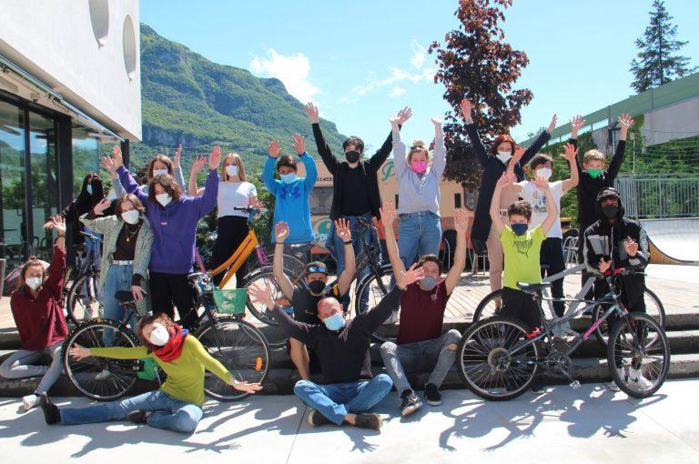 Gruppenfoto Radwerkstatt